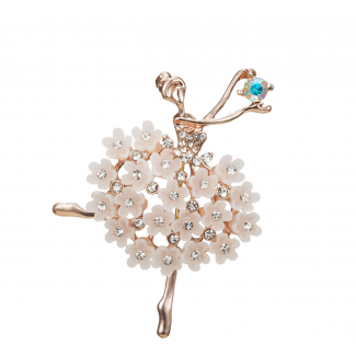 "Brooch ""Ballerina"" White"