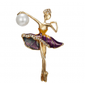 "Brooch ""Gymnast"" Purple"