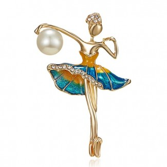 "Brooch ""Gymnast"" Blue"