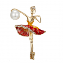 "Brooch ""Gymnast"" Red"